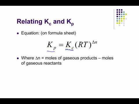 relationship between kp kc and kx