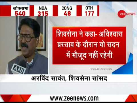 Shiv Sena leader Arvind Sawant speaks about no-confidence motion against Modi government
