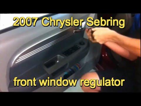 2007 Chrysler Sebring Left Front Window Regulator Removal Youtube. 2007 Chrysler Sebring Left Front Window Regulator Removal. Chrysler. 2007 Chrysler Car Door Latch Diagram At Scoala.co