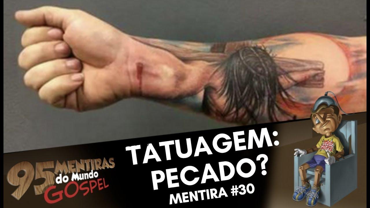 Tatuagem Pecado Somos Templo Do Espírito 95mentiras 3095