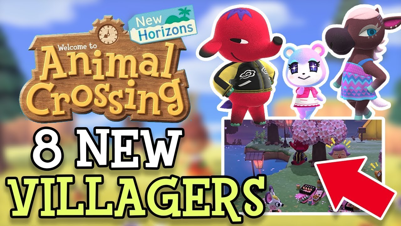 Animal Crossing New Horizons All 8 New Villagers Every New