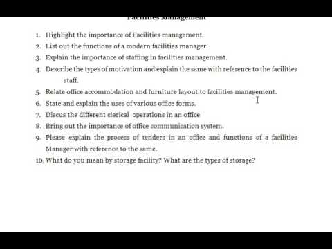 Facilities Management Highlight the importance of Facilities – Types of Office Communication