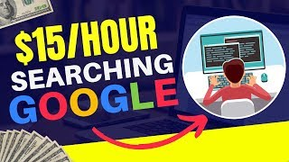 Make money online searching on google by becoming a search engine evaluator and working from home, earn up to $15 per hour. download my free affiliate market...