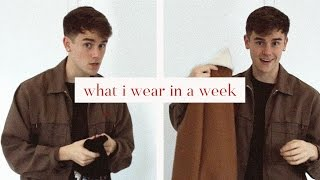 what i wear in a week