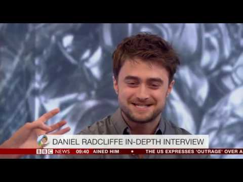 Daniel Radcliffe star of Harry Potter and now 20 more films gives a major interview on the BBC
