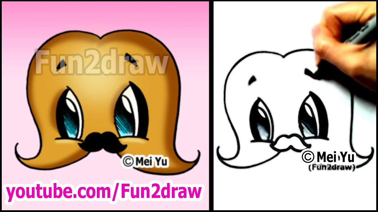 MUSTACHE with a MUSTACHE! - cute cartoon drawing (Art ...