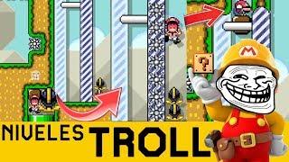 Trampas y Pillerías por Todas Partes!! - NIVELES TROLL #3 | Super Mario Maker - ZetaSSJ