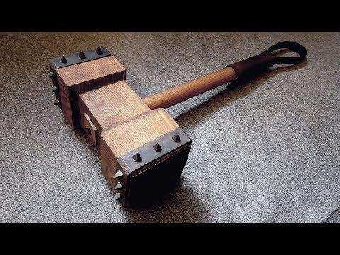 Making Wooden Battle Hammer thumbnail