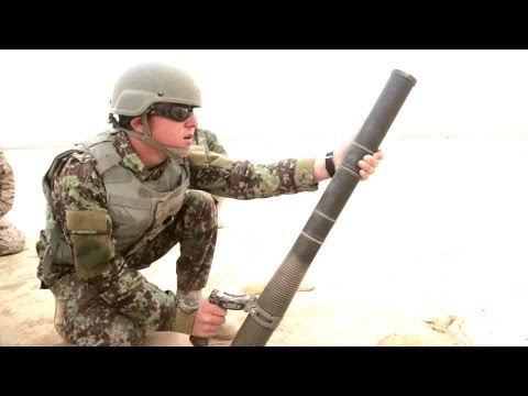 Afghan National Army M224 Mortar Live Fire Training