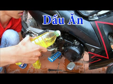 PHD | Thay Nhớt Xe Máy Bằng Dầu Ăn | Using Cooking Oil As Engine Oil In Bike