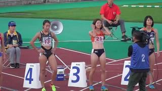 【えひめ国体】美人ランナーばかり(4レーン 藤森安奈) 『成年女子100m 決勝』