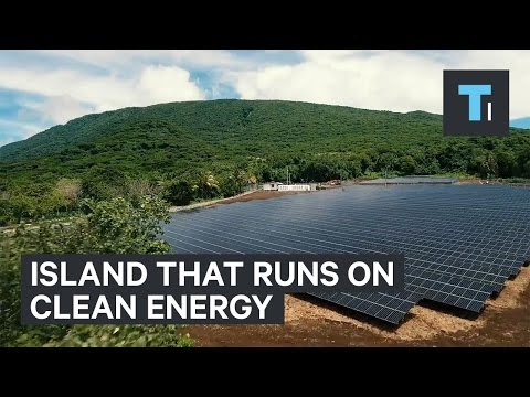 Tesla and Solar City's island that runs on clean energy