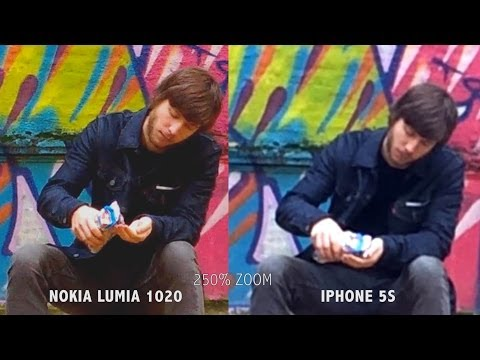 Iphone 5s vs Nokia Lumia 1020 Video capture