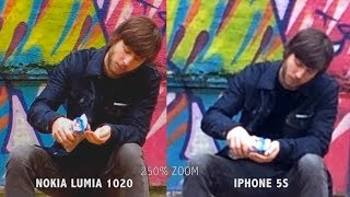 Iphone 5s vs Nokia Lumia 1020 [Video capture]