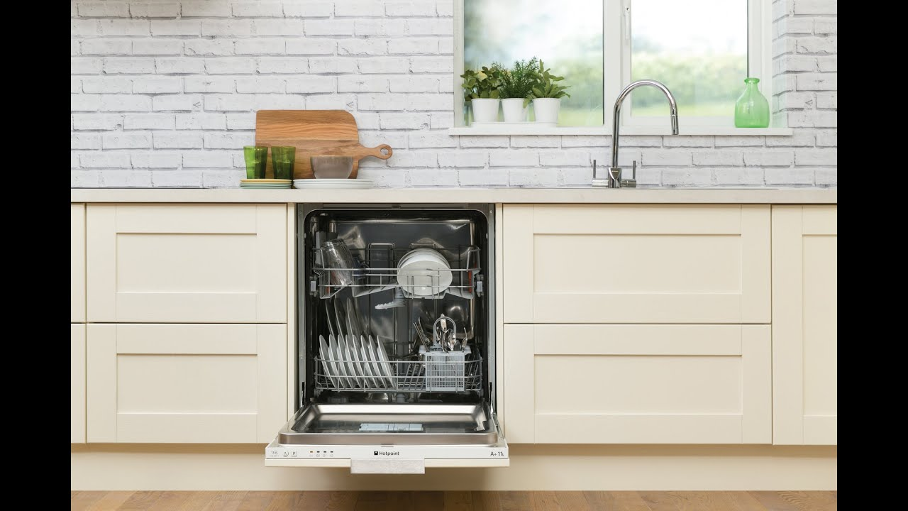 Hotpoint LTB4B019 Integrated Dishwasher - YouTube