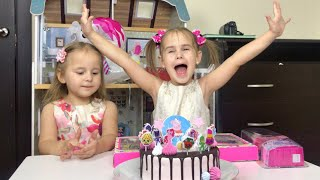 День Рождения канала Алинка Малинка ТВ Как мы отметили Играем в куклы Алина открываем новые сюрпризы