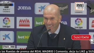 Download Rueda de prensa de ZIDANE post Eibar 0-4 Real Madrid Jornada 13 (09/11/2019) Mp3 and Videos