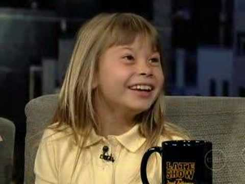 Terri and Bindi Irwin on The Late  With David Letterman