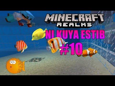Minecraft Realm ni Kuya Estib #10  Taniman at aquarium