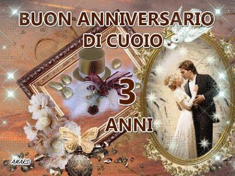 Auguri Anniversario Matrimonio 23 Anni.Auguri In Una Clip Buone Nozze Di Cuoio 3 Anni Tanti