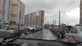 Урок Авто Вождения в  Питерский дождь перед праздником ВМФ.