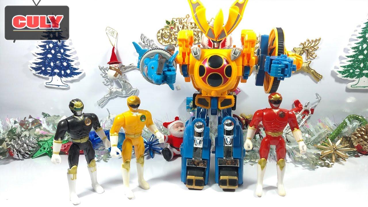 Bộ 3 anh em siêu nhân cuồng phong robot gao chúa cơ động khủng long đồ chơi  power ranger megazord
