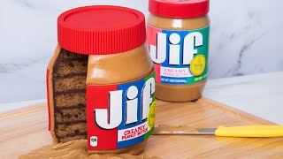 GIANT Jif Peanut Butter Jar... Made Of CAKE! | How To Cake It with Yolanda Gampp