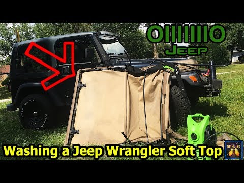 I Got a Jeep Wrangler Soft Top From a Garage Sale, Let's Wash It!