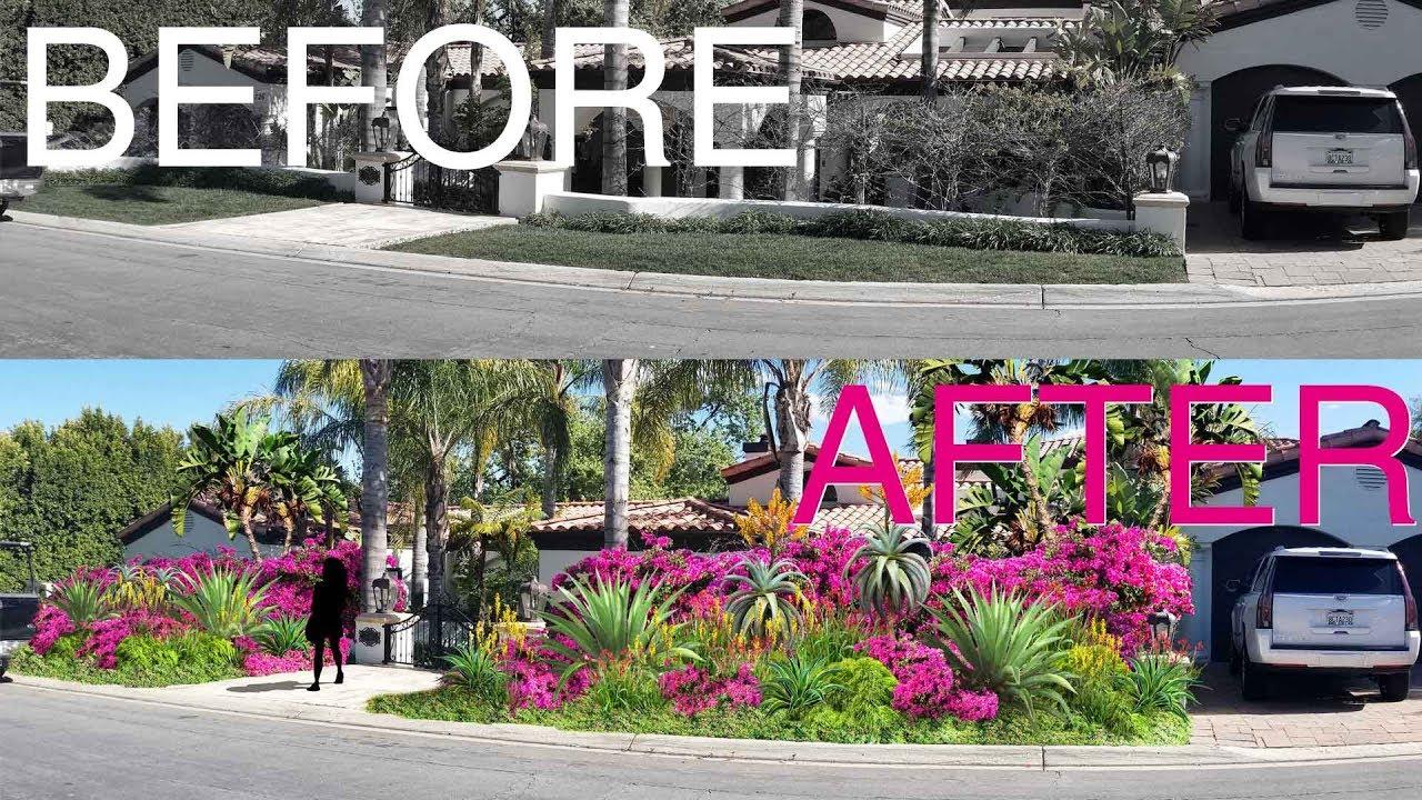 Front Yard Landscape Design Rendering Youtube
