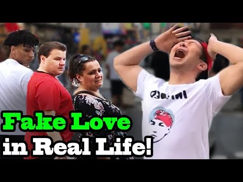 BTS - Fake Love - Dramatic Version in Real Life - SINGING IN PUBLIC!