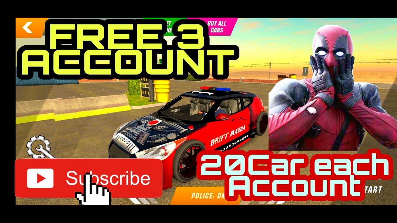 Car Parking Multiplayer 3 Free Account 20 Car Each Account Youtube