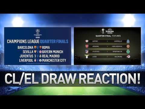 Champions league & europa league draw reactions!