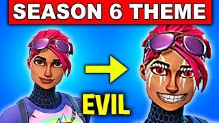 Fortnite SEASON 6 THEME! – CUBE IS TURNING EVERYONE EVIL - NEW SKINS (Fortnite Battle Royale)