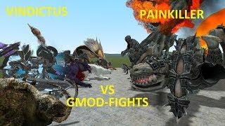 PAINKILLER VS VINDICTUS - BOSS FIGHTS - GMOD-FIGHTS