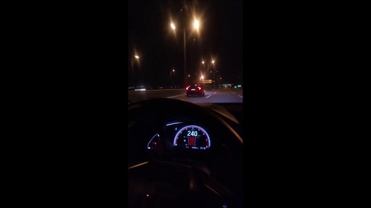 Honda Civic Turbo Acceleration 0-200 Top Speed Test