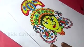 How to Draw Hindu Goddess Durga Drawing Step by Step for Kids