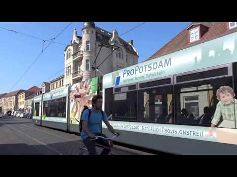 Straßenbahnnetz Potsdam - Trams in Potsdam, Germany 2017