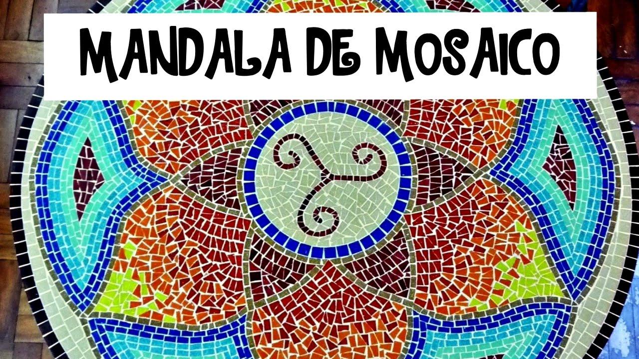 Mandala em mosaico etapas da cria o youtube - Como pintar mosaicos ...