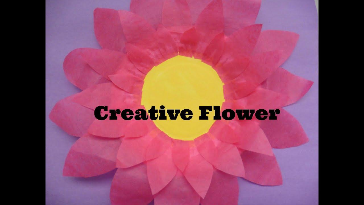 Como hacer una flor usando un plato de papel  Creative