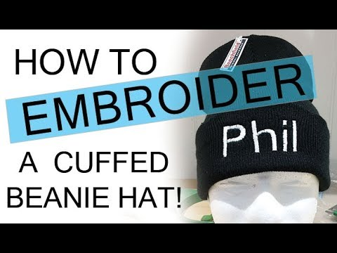 03af65094f85ec How to Embroider a Cuffed Beanie Hat - YouTube