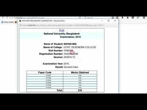 How to download/get degree 3rd/final year result 2018 within 2 seconds! Nu  result, (Nayan Mia)