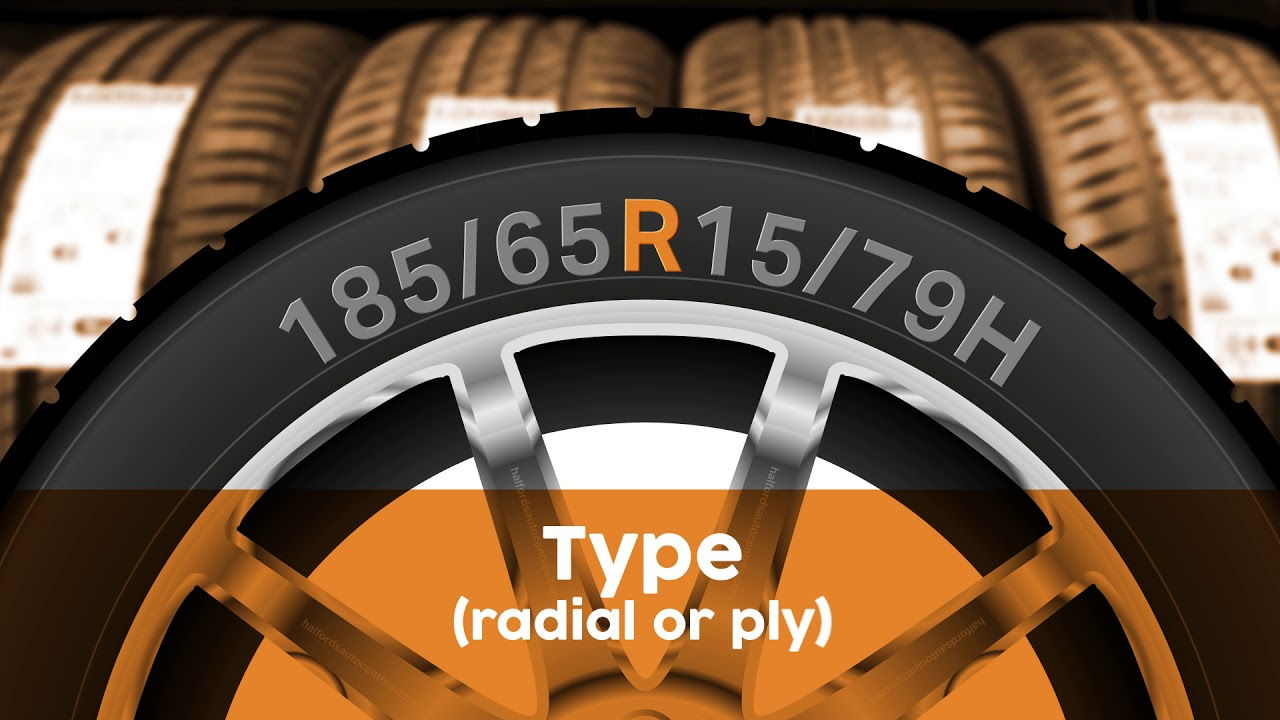 Halfords Autocentres What Do The Letters And Numbers On A Tyre