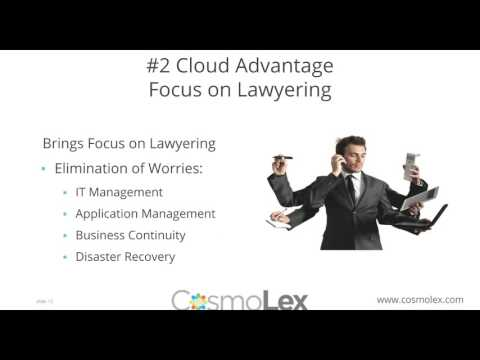 Cloud Computing for Lawyers | CosmoLex Webinar