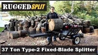 "RuggedSplit ""37 Ton"" Type 2 Fixed Blade ""Log Splitter"" ""Wood Splitter"" by RuggedMade Intro Part 2"