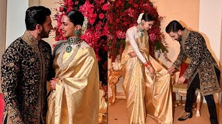 Ranveer Deepika CUTE Moments At Their Wedding Reception Bangalore