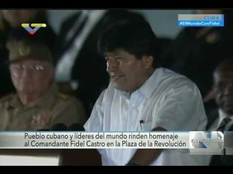Discurso de Evo Morales en La Habana, homenaje a Fidel Castro tras su fallecimiento
