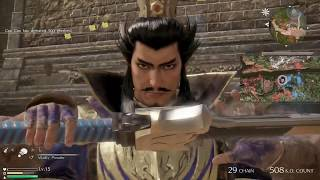 Dynasty Warriors 9 Gameplay aka COW COW CHOPS PEOPLE UP FOR 24 MINUTES AT HU LAO GATE 真・三國無雙8 虎牢關之戰