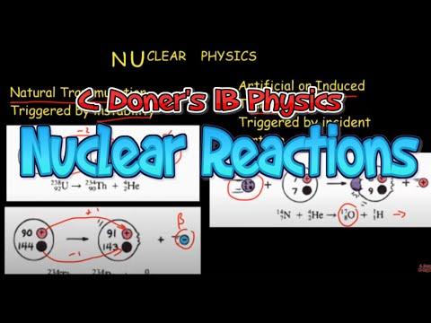 IB Physics: Nuclear Reactions