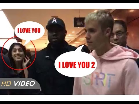Justin Bieber Landed Mumbai : Crazy Girl Proposing Justin | Latest Video | Only For India 7 Lover