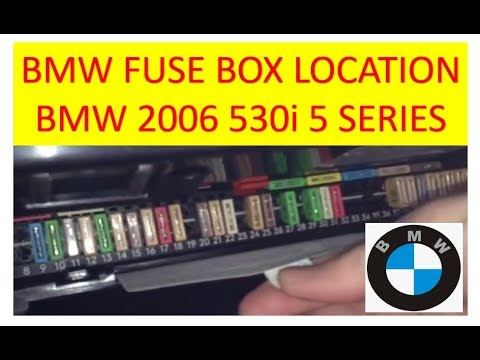fuse location in a bmw 2006 530i 5 series cigarette lighter stopped working  - youtube  youtube